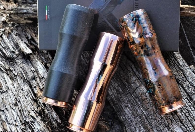Authentic Copper Saiga Cuprum Mechanical Mod by Caliber Mods