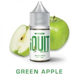 GREEN APPLE BY IQUIT SALT NICOTINE PREMIUM E-LIQUIDS