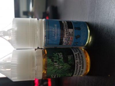 opened hulk tears and fizzy lemonade salt nic(both 30ml, 50mg)
