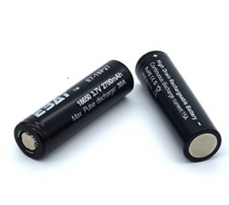 2 Pieces Ebat IMR 18650 3.7V Rechargeable battery 2700mAH 30A High Drain Battery