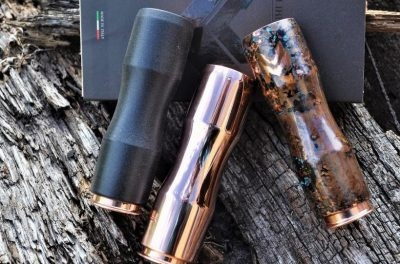 Authentic Copper Saiga Cuprum Mechanical Mod by Caliber Mods